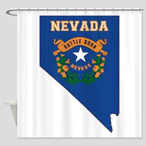Nevada Flag Shower Curtain