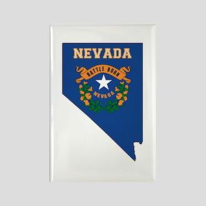 Nevada Flag Rectangle Magnet
