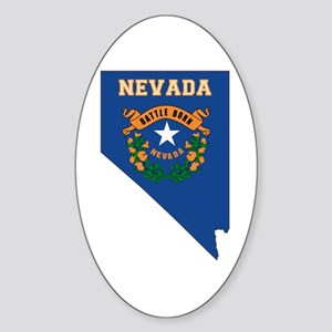 Nevada Flag Sticker (Oval)