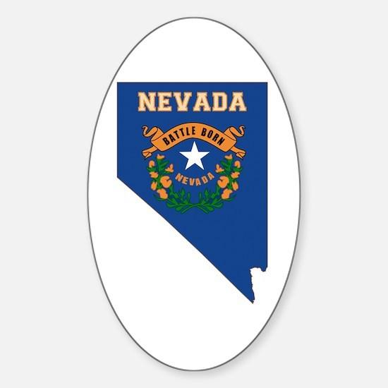 Nevada Flag Sticker (Oval)