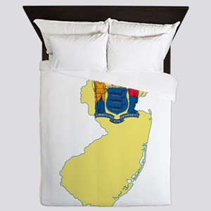 New Jersey Flag Queen Duvet