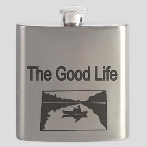 The Good Life. (fisherman on the lake) Flask