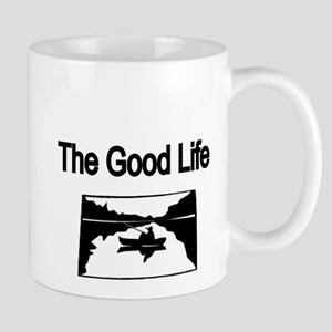 The Good Life. (fisherman on the lake) Mug