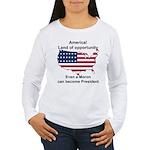 Elect a moron! Women's Long Sleeve T-Shirt