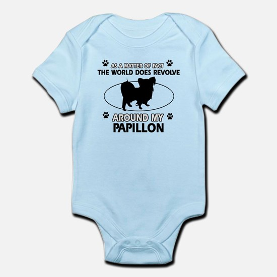 Papillon dog funny designs Infant Bodysuit