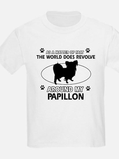 Papillon dog funny designs T-Shirt