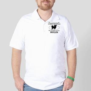 Papillon dog funny designs Golf Shirt