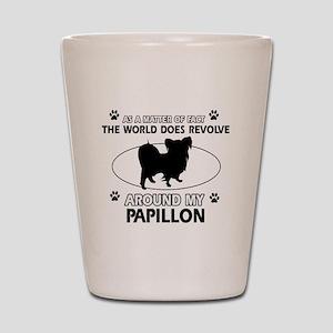Papillon dog funny designs Shot Glass