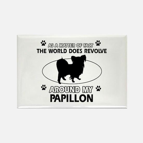 Papillon dog funny designs Rectangle Magnet (10 pa
