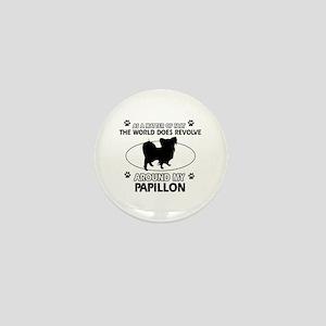 Papillon dog funny designs Mini Button