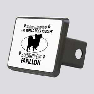 Papillon dog funny designs Rectangular Hitch Cover