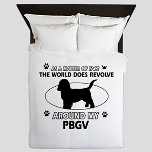 PBGV dog funny designs Queen Duvet