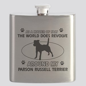 Parson Russell Terrier dog funny designs Flask