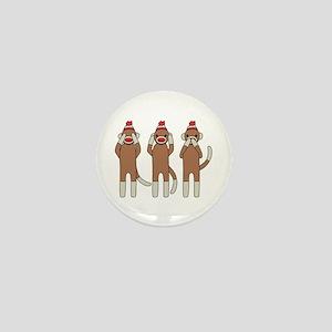 Three Monkeys Mini Button
