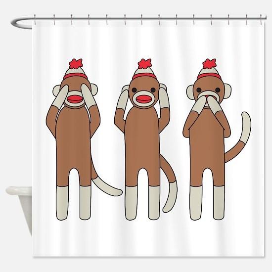 Three Monkeys Shower Curtain