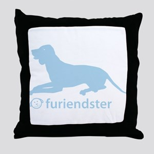 English Coonhound Throw Pillow