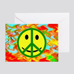 Smiley Peace Greeting Card