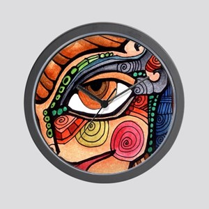 Rule #8 Abstract Face Wall Clock