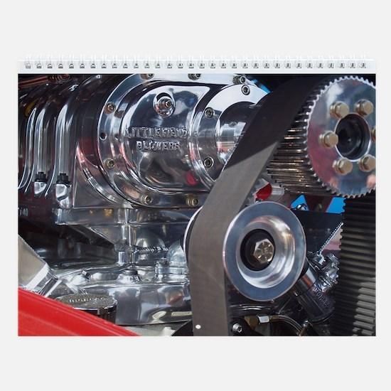 #1 Hot Rod Engines Photo Wall Calendar