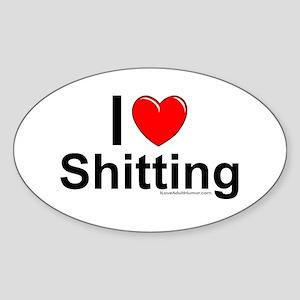 Shitting Sticker (Oval)
