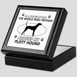 Plott Hound dog funny designs Keepsake Box