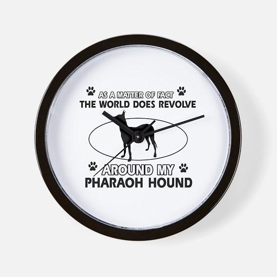 Pharaoh Hound dog funny designs Wall Clock