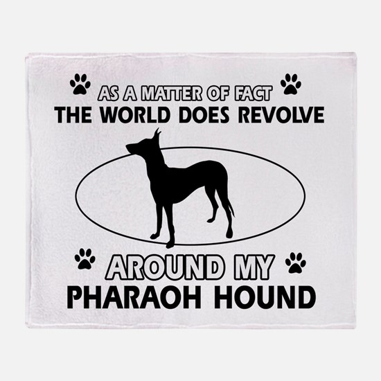 Pharaoh Hound dog funny designs Throw Blanket