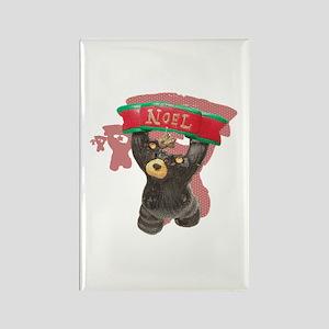 NOEL BEARS RED SHADOW Rectangle Magnet