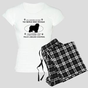 Polish Lowland Sheep dog funny designs Women's Lig