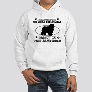 Polish Lowland Sheep dog funny designs Hooded Swea