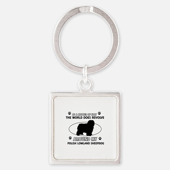 Polish Lowland Sheep dog funny designs Square Keyc