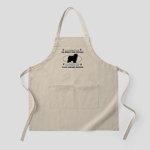 Polish Lowland Sheep dog funny designs Apron