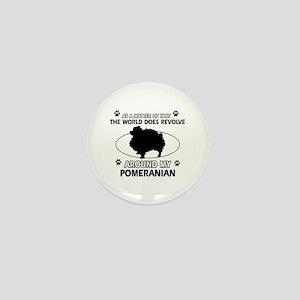 Pomeranian dog funny designs Mini Button
