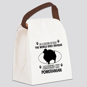 Pomeranian dog funny designs Canvas Lunch Bag
