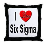 I Love Six Sigma Throw Pillow
