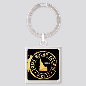 Eclipse Idaho Square Keychain
