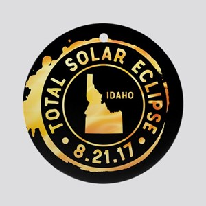 Eclipse Idaho Round Ornament