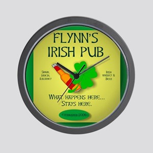 IRISH PUB PERSONALIZED Wall Clock