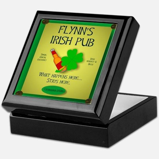 IRISH PUB PERSONALIZED Keepsake Box
