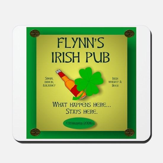 IRISH PUB PERSONALIZED Mousepad