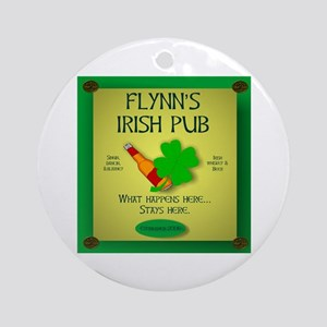 IRISH PUB PERSONALIZED Ornament (Round)