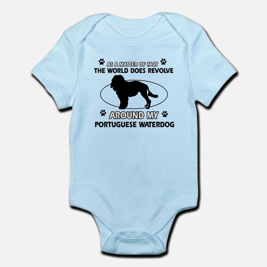 Portuguese water dog funny designs Infant Bodysuit