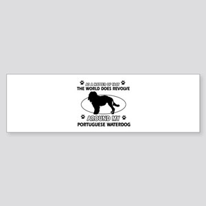 Portuguese water dog funny designs Sticker (Bumper