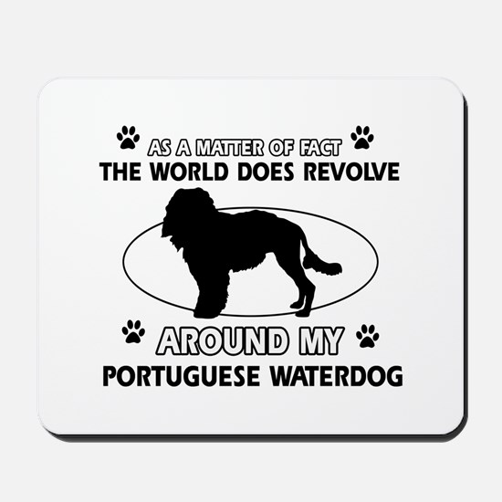 Portuguese water dog funny designs Mousepad