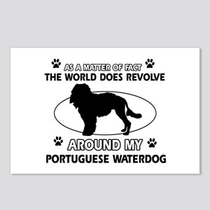 Portuguese water dog funny designs Postcards (Pack