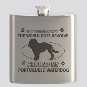 Portuguese water dog funny designs Flask