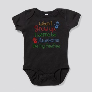 Awesome Like My PawPaw Baby Bodysuit