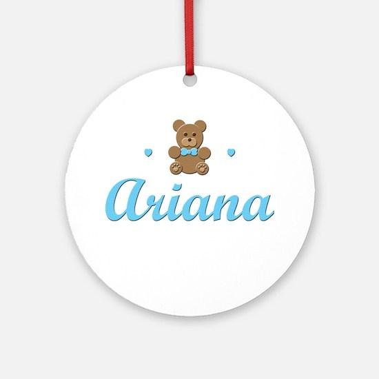 Blue Teddy - Ariana Ornament (Round)