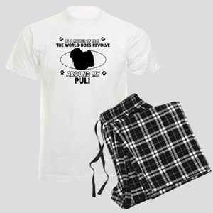 Puli dog funny designs Men's Light Pajamas