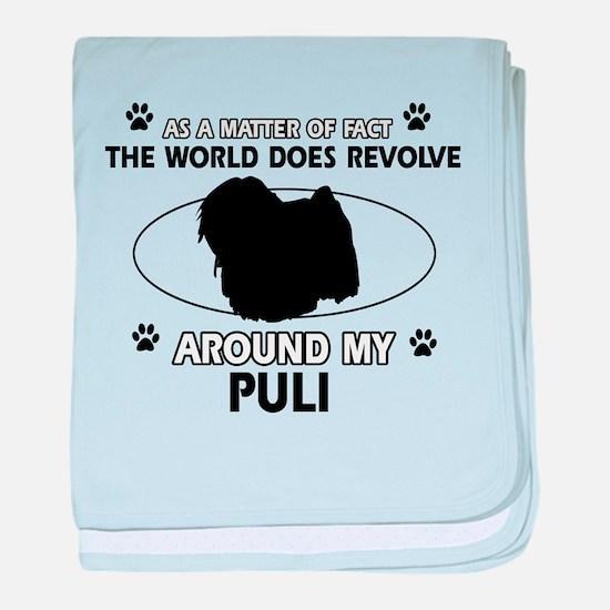 Puli dog funny designs baby blanket